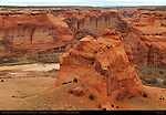 Canyon de Chelly from Junction Overlook, Canyon de Chelly National Monument, Navajo Nation, Chinle, Arizona