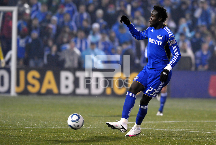Kei Kamara...Kansas City Wizards defeated D.C Utd 4-0 in their home opener at Community America Ballpark, Kansas City, Kansas.