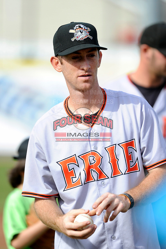 Erie Seawolves Michael Rockett #14 during a Challenger Game before a game against the Binghamton Mets at Jerry Uht Park on June 23, 2012 in Erie, Pennsylvania.  Erie defeated Binghamton 5-3.  (Mike Janes/Four Seam Images)