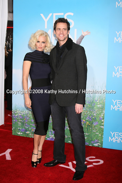 "Jenny McCarthy  & Jim Carrey arriving at the LA  Premiere of ""YESman"" at the Mann's Village Theater in Westwood, CA on December 17, 2008.©2008 Kathy Hutchins / Hutchins Photo..                ."