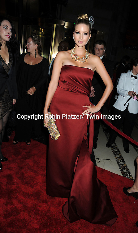 Ivanka Trump in Carolina Herrera red dress  attends The New Yorkers for Children 2011 Fall Gala .on September 20, 2011 at Cipriani 42nd Street in New York City. Carmelo Anthony was honored.