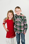 WATERBURY, CT- 10 December 2015-121015EC23-  Christmas Kids North. Amelia Hinman, 6, and her brother Patrick, 8, are from Torrington. Patrick wants a Disney Infinity 3.0 and Amelia wants My Little Pony. Erin Covey Republican-American