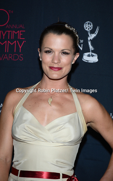 Melissa Claire Egan attends the 40th Annual Daytime Creative Arts Emmy Awards on June 14, 2013 at the Westin Bonaventure Hotel in Los Angeles, California.