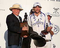 WELLINGTON, FL - APRIL 25:  Matias Torres Zavaleta of Valiente is the Most Valuable Player, in the US Open Polo Championship Final, at the International Polo Club Palm Beach, on April 25, 2017 in Wellington, Florida. (Photo by Liz Lamont/Eclipse Sportswire/Getty Images)
