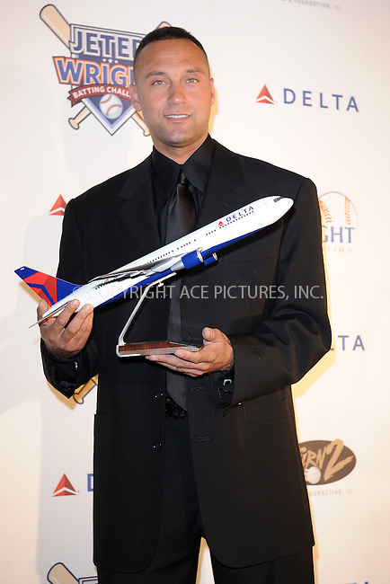WWW.ACEPIXS.COM . . . . . ....November 13 2009, New York City....New York Yankees baseball player Derek Jeter at Delta Airline's donation to the Derek Jeter Turn 2 Foundation at ESPN Zone in Times Square on November 13, 2009 in New York City....Please byline: KRISTIN CALLAHAN - ACEPIXS.COM.. . . . . . ..Ace Pictures, Inc:  ..(212) 243-8787 or (646) 679 0430..e-mail: picturedesk@acepixs.com..web: http://www.acepixs.com