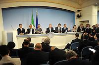 Roma, 30 Aprile 2012.Palazzo Chigi.Conferenza stampa sulla spending review.. Approvati i tagli alla spesa pubblica..