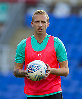 Ritchie De Laet of Aston Villa during pre match warm up during the Sky Bet Championship match between Reading and Aston Villa at the Madejski Stadium, Reading, England on 15 August 2017. Photo by Andy Rowland / PRiME Media Images.
