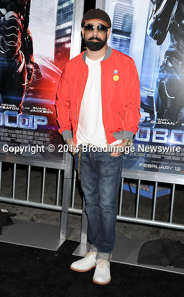 Pictured: AJ McLean<br /> Mandatory Credit &copy; Gilbert Flores/Broadimage<br /> RoboCop - Los Angeles Premiere<br /> <br /> 2/10/14, Hollywood, California, United States of America<br /> <br /> Broadimage Newswire<br /> Los Angeles 1+  (310) 301-1027<br /> New York      1+  (646) 827-9134<br /> sales@broadimage.com<br /> http://www.broadimage.com