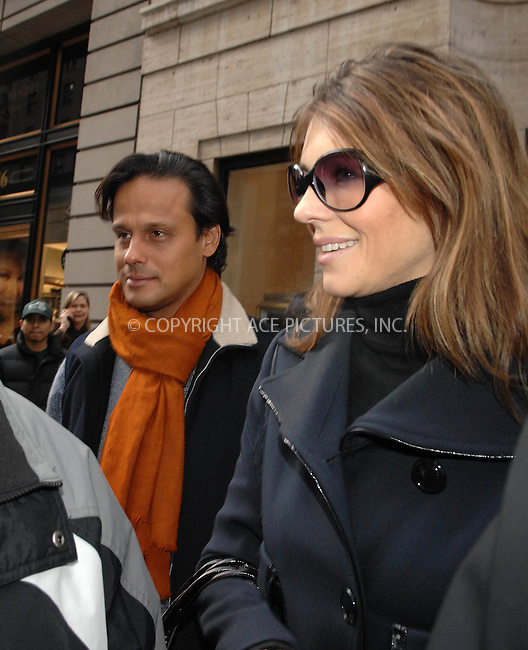 Liz Hurley  and  boyfriend Arun out and about in NYC visit   Harry  Winstons Jewelry  store  on  February 1, 2006.