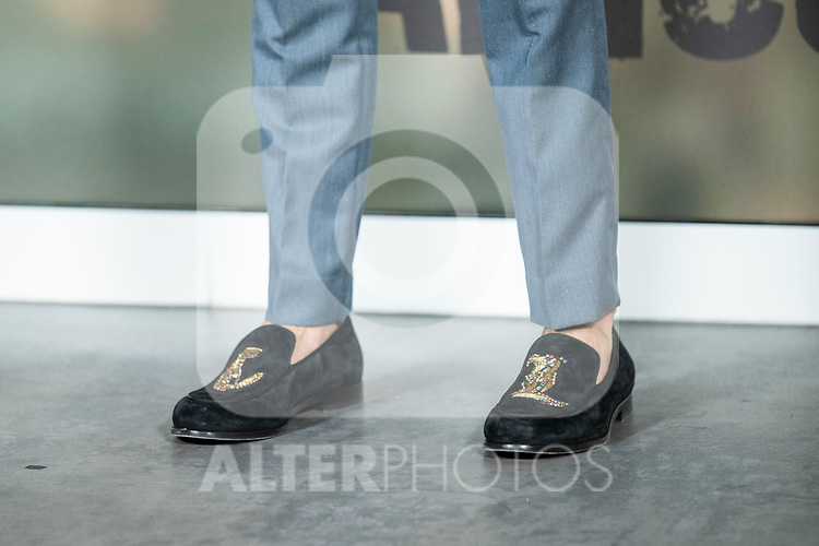 Mario Casas shoes in the press junction of 'ADIOS', the new work of director Paco Cabezas, which has an undisputed and recognized cast headed by Mario Casas, the two-time winner of Goya Natalia de Molina, and Goya nominees Ruth Diaz and Carlos Bardem.<br /> November 15, 2019. <br /> (ALTERPHOTOS/David Jar)