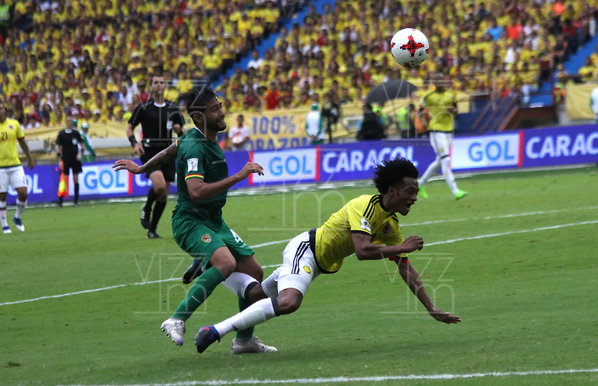 BARRANQUILLA -COLOMBIA, 23-MARZO-2017. Action game between Colombia and Bolivia   during match for the qualifiers for the World Cup of Soccer Russia 2018 played in the  Metropolitano Roberto Melendez stadium in Barranquilla . Photo:VizzorImage / Felipe Caicedo  / Staff