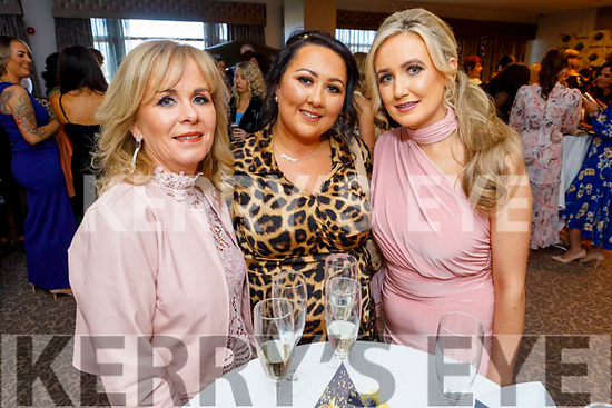 Imelda McGarry, Jackie O'Sullivan and Edele O'Donoghue attending the Connect Magazine Hair and Beauty Awards in the Rose Hotel on Sunday.