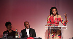 Phylicia Rashad, Kenny Leon and Condola Rashad during the SDC Foundation presents The Mr. Abbott Award honoring Kenny Leon at ESPACE on March 27, 2017 in New York City.
