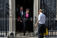 (Form L to R) David Mundell MP (Secretary of State for Scotland), Ruth Elizabeth Davidson MSP (Scottish politician, leader of the Scottish Conservatives and Member of the Scottish Parliament for Edinburgh Central) &amp; the tattoo.<br /> <br /> London, 12/06/2017. Today, Theresa May's reshuffled Cabinet met at 10 Downing Street after the General Election of the 8 June 2017. Philip Hammond MP - not present in the photos - was confirmed as Chancellor of the Exchequer. <br /> After 5 years of the Coalition Government (Conservatives &amp; Liberal Democrats) led by the Conservative Party leader David Cameron, and one year of David Cameron's Government (Who resigned after the Brexit victory at the EU Referendum held in 2016), British people voted in the following way: the Conservative Party gained 318 seats (42.4% - 13,667,213 votes &ndash; 12 seats less than 2015), Labour Party 262 seats (40,0% - 12,874,985 votes &ndash; 30 seats more then 2015); Scottish National Party, SNP 35 seats (3,0% - 977,569 votes &ndash; 21 seats less than 2015); Liberal Democrats 12 seats (7,4% - 2,371,772 votes &ndash; 4 seats more than 2015); Democratic Unionist Party 10 seats (0,9% - 292,316 votes &ndash; 2 seats more than 2015); Sinn Fein 7 seats (0,8% - 238,915 votes &ndash; 3 seats more than 2015); Plaid Cymru 4 seats (0,5% - 164,466 votes &ndash; 1 seat more than 2015); Green Party 1 seat (1,6% - 525,371votes &ndash; Same seat of 2015); UKIP 0 seat (1.8% - 593,852 votes); others 1 seat. <br /> The definitive turn out of the election was 68.7%, 2% higher than the 2015.<br /> <br /> For more info about the election result click here: http://bbc.in/2qVyNRd &amp; http://bit.ly/2s9ob51<br /> <br /> For more info about the Cabinet Ministers click here: https://goo.gl/wmRYRd