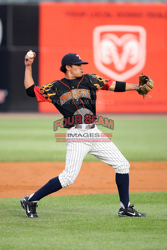 June 12th 2008:  Max Leon of the Toledo Mudhens, Class-AAA affiliate of the Detroit Tigers, during a game at Fifth Third Field in Toledo, OH.  Photo by:  Mike Janes/Four Seam Images