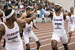COLLEGE STATION, TX - MARCH 11: Eric Futch of Florida passes the baton in the men's 4x400 meter relay during the Division I Men's and Women's Indoor Track & Field Championship held at the Gilliam Indoor Track Stadium on the Texas A&M University campus on March 11, 2017 in College Station, Texas. (Photo by Michael Starghill/NCAA Photos/NCAA Photos via Getty Images)