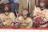 Julian Marcuzzi, Andrew Thomas, Gabe Gauthier - The Ferris State Bulldogs defeated the University of Denver Pioneers 3-2 in the Denver Cup consolation game on Saturday, December 31, 2005, at Magness Arena in Denver, Colorado.