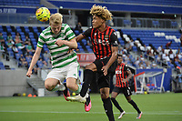 16th July 2020; Nice, France; Veolia Trohy Football friendly, OGC Nice versus Celtic FC;  Alexandre Duville-Parsemain nice beaten by the header from Stephen Welsh celtic