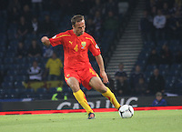 Nikolche Noveski in the Scotland v Macedonia FIFA World Cup Qualifying match at Hampden Park, Glasgow on 11.9.12.
