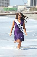 11 September 2017 - Atlantic City, NJ- Miss America 2018 Cara Mund.  New Crowned Miss America 2018 Cara Mund takes the traditional &quot;Toe Dip&quot; in the surf at Atlantic City Beach.  <br /> CAP/ADM/MJT<br /> &copy; MJT/ADM/Capital Pictures