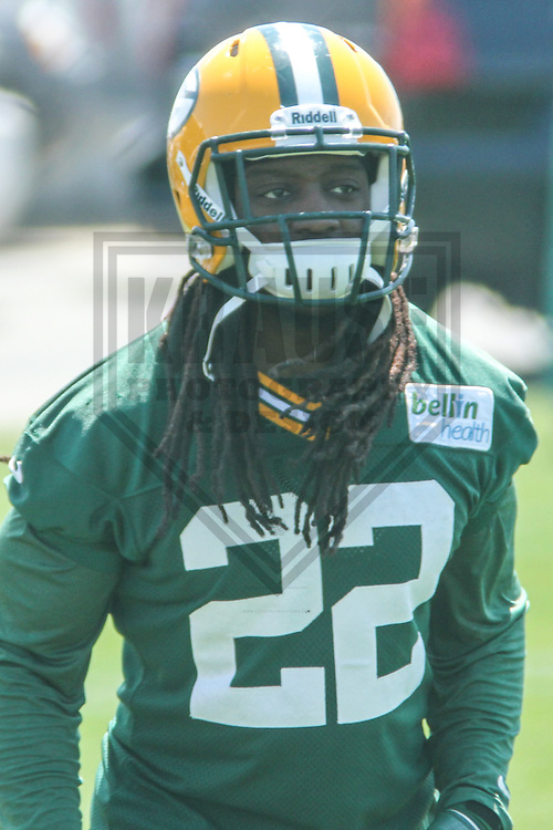 GREEN BAY - May 2013: Jerron McMillian (22) of the Green Bay Packers during an Organized Team Activity on May 21, 2013 at Clark Hinkle Field in Green Bay, Wisconsin. (Photo by Brad Krause)..