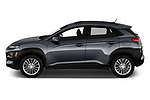 Car driver side profile view of a 2018 Hyundai Kona SEL AUTO 5 Door SUV