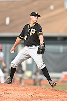 Bristol Pirates pitcher Palmer Betts #41 delivers a pitch during a game against the Johnson City Cardinals at Howard Johnson Field July 20, 2014 in Johnson City, Tennessee. The Pirates defeated the Cardinals 4-3. (Tony Farlow/Four Seam Images)
