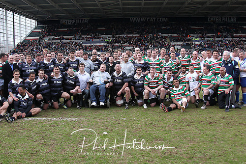 21.04.2013 Rugby Union, Leicester, England.          in action during the Charity Friendly game between a Tigers Legends XV and an International Legends XV, from Welford Road.  Match proceeds are going to the Louis Deacon Benefit and the Matt Hampson Foundation