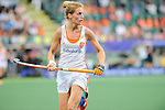 The Hague, Netherlands, June 07: Carlien Dirkse van den Heuvel #9 of The Netherlands in action during the field hockey group match (Group A) between Australia and The Netherlands on June 7, 2014 during the World Cup 2014 at Kyocera Stadium in The Hague, Netherlands. Final score 0-0 (0-2) (Photo by Dirk Markgraf / www.265-images.com) *** Local caption ***