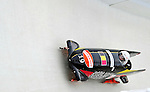 17 December 2010:  Elfje Willemsen pilots her 2-man bobsled for Belgium, finishing 14th for the day at the Viessmann FIBT World Cup Bobsled Championships in Lake Placid, New York, USA. The event was a Make-up Race from the previous week at Park City where the Women's Bobsled had to be cancelled due to severe snow conditions. Mandatory Credit: Ed Wolfstein Photo
