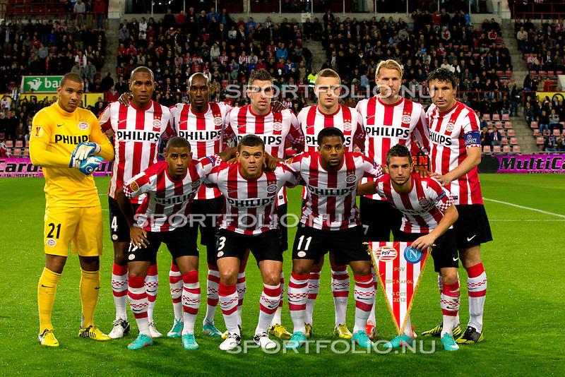 Nederland, Amsterdam, 4 oktober  2012.Seizoen 2012-2013.EuropaLeague.PSV-Napoli.Elftal foto van PSV
