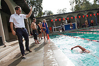 Coach Shea Manning Dec 1, 2012; Los Angeles, CA, USA; Redlands at Occidental swimming.<br />