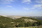 Israel, Upper Galilee, a view from Ein Zeved on Mount Meron