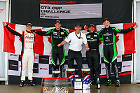 Porsche GT3 Cup Challenge USA / CAN<br /> Sahlen's Six Hours of the Glen<br /> Watkins Glen International, Watkins Glen, NY USA<br /> Saturday 1 July 2017<br /> Porsche GT3 Cup Challenge CAN Canada Day Podium Photo<br /> World Copyright: Jake Galstad/LAT Images