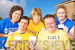Launching the BRI? I AM A SURVIVOR OF A BRAIN INJURY card in Killarney International Hostel, Fossa on Tuesday was l-r: Betty O'Sullivan, Adrian O'Connor, Angela Cahill, Tim Powell and Muriel O'Sullivan