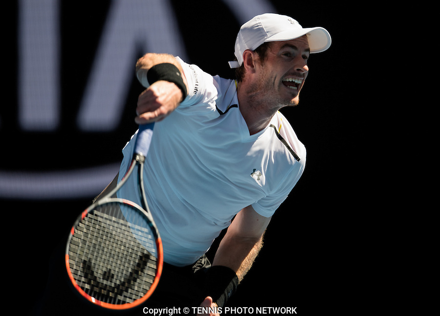 ANDY MURRAY (GBR)<br /> <br /> TENNIS , AUSTRALIAN OPEN,  MELBOURNE PARK, MELBOURNE, VICTORIA, AUSTRALIA, GRAND SLAM, HARD COURT, OUTDOOR, ITF, ATP, WTA<br /> <br /> &copy; TENNIS PHOTO NETWORK