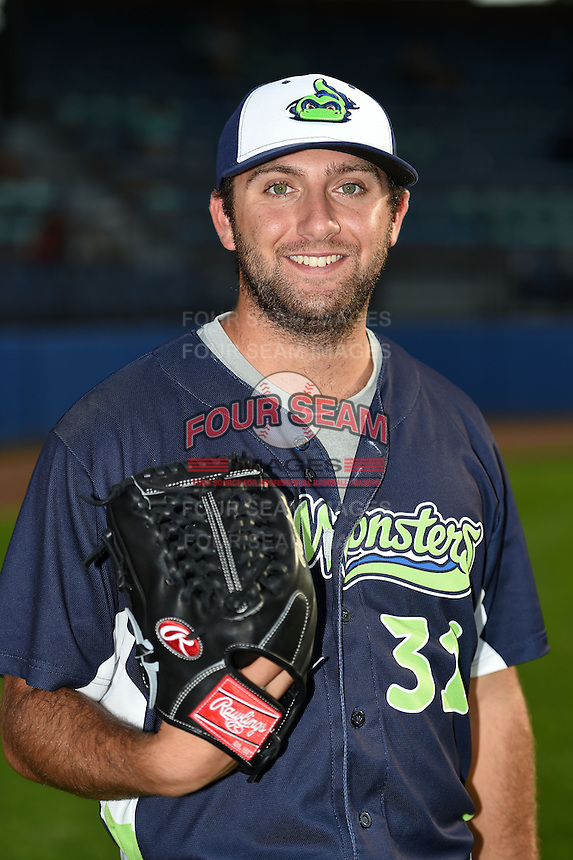 Vermont Lake Monsters pitcher Michael Fagan (31) poses for a photo before a game against the Jamestown Jammers on July 12, 2014 at Russell Diethrick Park in Jamestown, New York.  Jamestown defeated Vermont 3-2.  (Mike Janes/Four Seam Images)