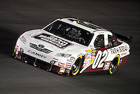 Oct. 15, 2009; Concord, NC, USA; NASCAR Sprint Cup Series driver David Gilliland during qualifying for the Banking 500 at Lowes Motor Speedway. Mandatory Credit: Mark J. Rebilas-