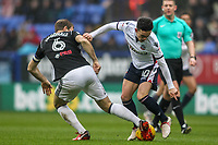 Bolton Wanderers' Zach Clough competing with Fulham's Kevin McDonald<br /> <br /> Photographer Andrew Kearns/CameraSport<br /> <br /> The EFL Sky Bet Championship - Bolton Wanderers v Fulham - Saturday 10th February 2018 - Macron Stadium - Bolton<br /> <br /> World Copyright &copy; 2018 CameraSport. All rights reserved. 43 Linden Ave. Countesthorpe. Leicester. England. LE8 5PG - Tel: +44 (0) 116 277 4147 - admin@camerasport.com - www.camerasport.com