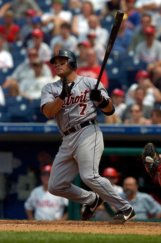 Detroit Tigers catcher Ivan Rodriguez during the 2004 MLB season.