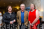 Enjoying the St. Senans GAA Social at the Rose Hotel on Friday were Margaret Kennelly, Denis Kennelly and Ann Quilter