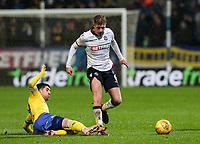 Bolton Wanderers' Josh Vela competing with Leeds United's Pablo Hernandez<br /> <br /> Photographer Andrew Kearns/CameraSport<br /> <br /> The EFL Sky Bet Championship - Bolton Wanderers v Leeds United - Saturday 15th December 2018 - University of Bolton Stadium - Bolton<br /> <br /> World Copyright &copy; 2018 CameraSport. All rights reserved. 43 Linden Ave. Countesthorpe. Leicester. England. LE8 5PG - Tel: +44 (0) 116 277 4147 - admin@camerasport.com - www.camerasport.com