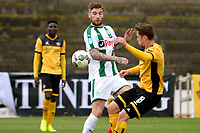 LA LINEA - Voetbal, FC Groningen - Dynamo Dresden, Trainingskamp FC Groningen, seizoen 2017-2018, 13-01-2018,  FC Groningen speler Lars Veldwijk  met Jannik Muller