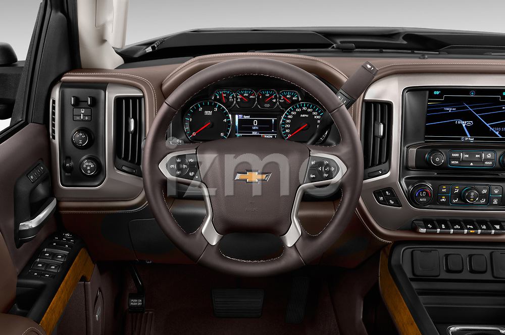 Car pictures of steering wheel view of a 2017 Chevrolet Silverado-2500Hd High-Country-Crew-LWB 4 Door Pickup Steering Wheel