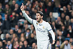 Alvaro Morata of Real Madrid reacts  during the match of Spanish La Liga between Real Madrid and UD Las Palmas at  Santiago Bernabeu Stadium in Madrid, Spain. March 01, 2017. (ALTERPHOTOS / Rodrigo Jimenez)