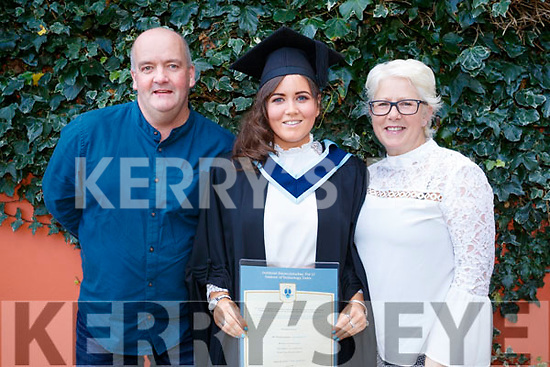 Joe and Maria Conway, pictured with their daughter Amanda Conway, Lixnaw, who graduated in Early Childhood Care and Education from IT Tralee, on Friday morning last, at the Brandon Conference Centre, Tralee.