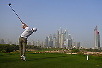 Kim Koivu (FIN) on the 8th tee during Round 1 of the Omega Dubai Desert Classic, Emirates Golf Club, Dubai,  United Arab Emirates. 24/01/2019<br /> Picture: Golffile | Thos Caffrey<br /> <br /> <br /> All photo usage must carry mandatory copyright credit (&copy; Golffile | Thos Caffrey)