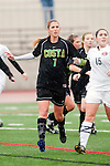 Palos Verdes, CA 01/26/10 - Shannon French (MC #7) in action during the Mira Costa vs Palos Verdes Girls Varsity soccer game at Palos Verdes High School.
