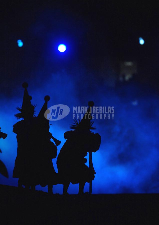 Jul 13, 2007; Rio de Janeiro, Brazil; Dancers perform during opening ceremonies for the Pan American Games at Maracana Stadium in Rio de Janeiro. Mandatory Credit: Mark J. Rebilas-US PRESSWIRE Copyright © 2007 Mark J. Rebilas