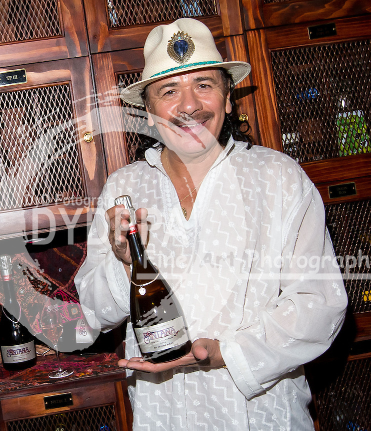 Carlos Santana. 2013/05/23. Rutherford. United States of America. The singer Carlos Santana Promotes Sparkling wine with his name. Photo by Media Punch/Unimedia /DYD Fotografos